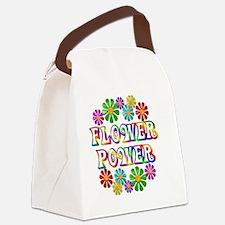 FlowerPower Canvas Lunch Bag