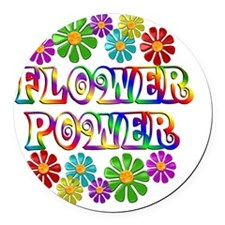 FlowerPower Round Car Magnet