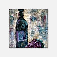 "Wine Still Life Square Sticker 3"" x 3"""