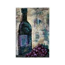 Wine Still Life Rectangle Magnet