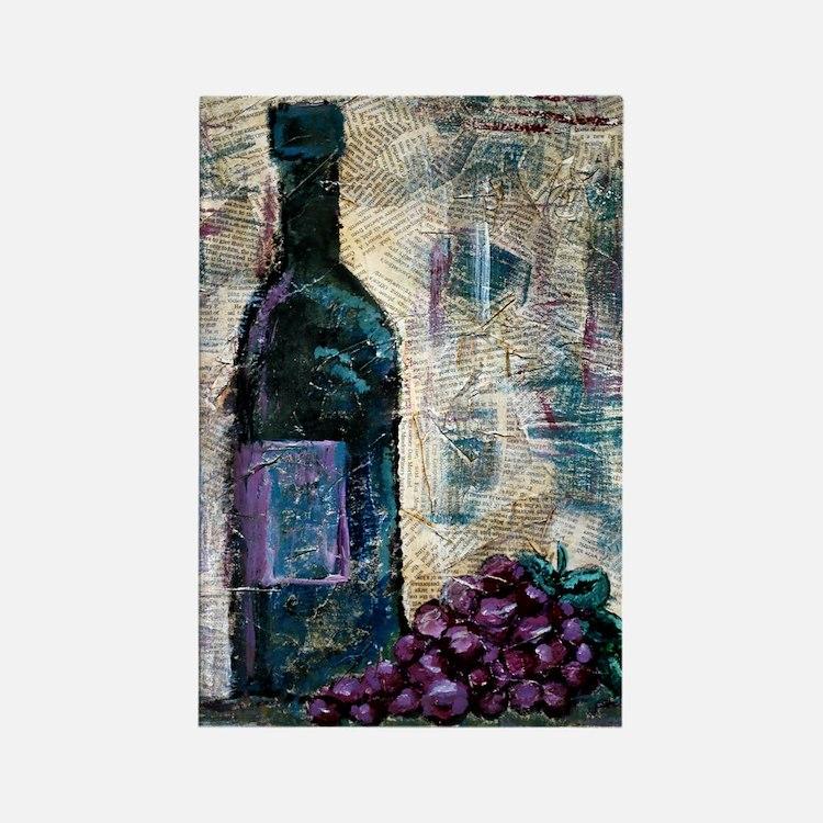 Wine Still Life Rectangle Magnet