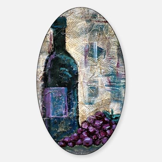 Wine Still Life Sticker (Oval)