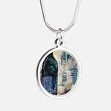 Wine Still Life Silver Round Necklace