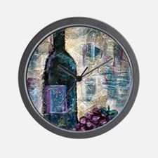Wine Still Life Wall Clock