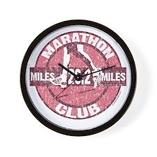 Marathon Club - Pink Wall Clock
