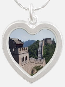 GreatWallOfChinaMousepad Silver Heart Necklace