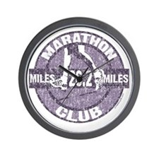 Marathon Club - Purple Wall Clock