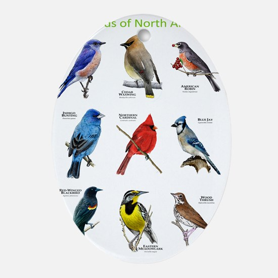 Songbirds of North America Oval Ornament
