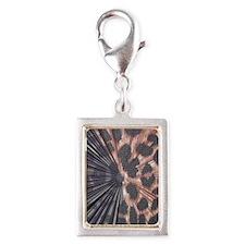 Leopard Print Mix Silver Portrait Charm
