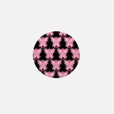 PinkRibWingsLovePbSq Mini Button