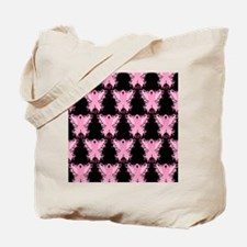 PinkRibWingsLovePbSq Tote Bag
