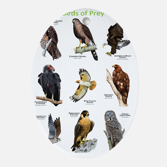 Birds of Prey Oval Ornament