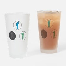 Markov Chain of Life and Zombie-ism Drinking Glass