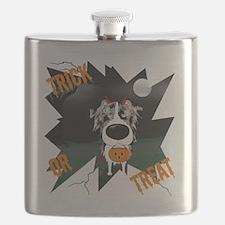 BluMerleAussieHalloweenShirt Flask