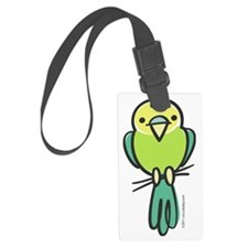 parakeet_green_only Luggage Tag