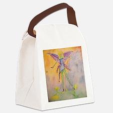 Framed Tile dancing flower Canvas Lunch Bag