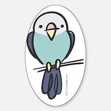 blue_parakeet Sticker (Oval)