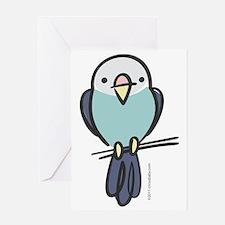 blue_parakeet Greeting Card