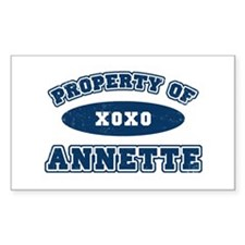 """""""Property of Annette"""" Rectangle Decal"""