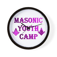 masonic youth camp Wall Clock