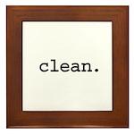clean. Framed Tile