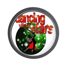 Dancing with the Stars Green Disco ball Wall Clock