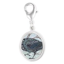 ravenSQUARE Silver Oval Charm