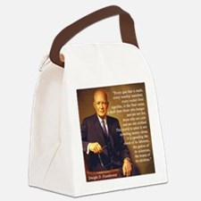Eisenhower Every Gun 1 Canvas Lunch Bag
