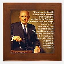 Eisenhower Every Gun 1 Framed Tile