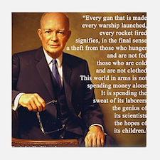 Eisenhower Every Gun 1 Tile Coaster