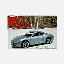 Hot Wheels_Porsche Cayman S_Silve Rectangle Magnet