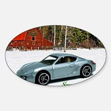 Hot Wheels_Porsche Cayman S_Silver_ Sticker (Oval)