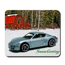 Hot Wheels_Porsche Cayman S_Silver_Wood  Mousepad
