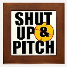 shut up and pitch Framed Tile
