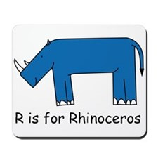 R is for Rhino Mousepad