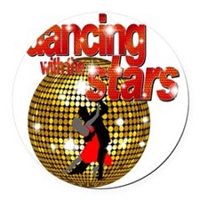 Dancing with the Stars Disco ball Round Car Magnet