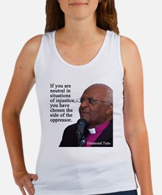 Desmond Tut if you are neutral Women's Tank Top