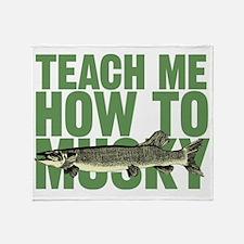teachmehowtomuskygreen Throw Blanket