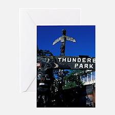 Victoria. Totems at Thunderbird Park Greeting Card