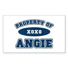 """Property of Angie"" Rectangle Decal"