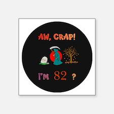 "pin-magnet 82 Square Sticker 3"" x 3"""