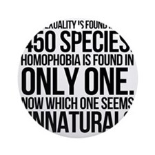 Homosexuality In 450 Species Round Ornament