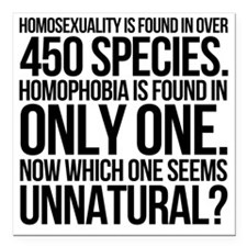 "Homosexuality In 450 Spe Square Car Magnet 3"" x 3"""