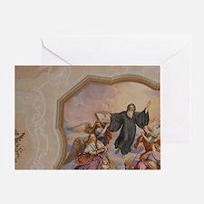 Melk. 900 year old baroque Melk Abbe Greeting Card