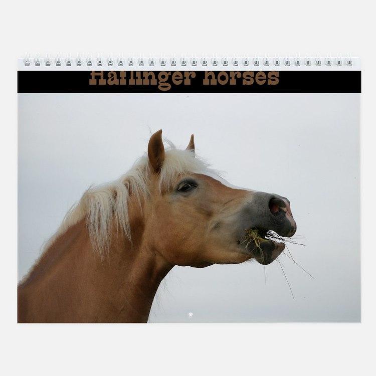 Haflinger Wall Calendar
