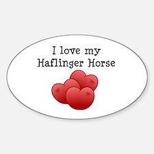 Haflinger Oval Decal