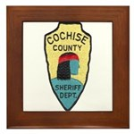 Cochise County Sheriff Framed Tile