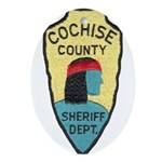 Cochise County Sheriff Ornament (Oval)