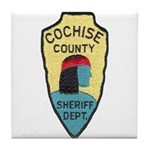 Cochise County Sheriff Tile Coaster