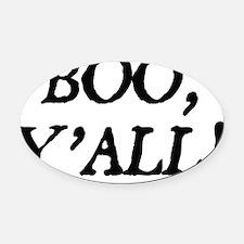 booyallblack Oval Car Magnet